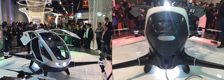 Prvý dron, ktorý zvládne prepraviť aj človeka! Stačí navoliť destináciu a on sa o všetko postará