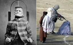 Pyramida z nahých těl, jídlo v záchodě a nucená masturbace. 10 nejodpudivějších fotografií historie