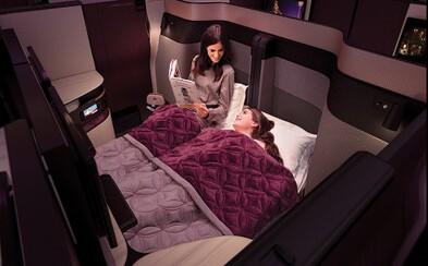 Qatar Airways pridal do biznis triedy historicky prvú manželskú posteľ. Dlhé lety už nebudú predstavovať problémy ani pre zaľúbené dvojice