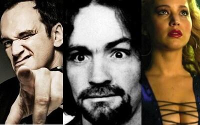 Quentin Tarantino sa chystá nakrúcať film o krvavých vraždách Charlesa Mansona. Zláka na hlavné úlohy Brada Pitta a Jennifer Lawrence?