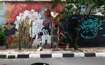 Radek NONECK se věnuje street artu a graffiti v ulicích Indonésie, kde podle něj panuje úplná volnost (Rozhovor)