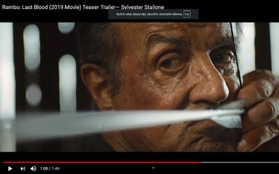 Rambo proleje poslední krev. Sylvester Stallone se v krví nasáklém traileru loučí s další legendární postavou