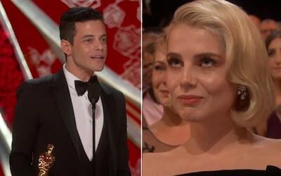 Rami Malek v dojemné děkovné řeči téměř rozplakal svoji přítelkyni Lucy. Zamiloval se do ní díky Bohemian Rhapsody