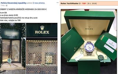 Ráno krádež hodiniek v Bratislave za 500-tisíc eur, večer inzerát na Bazoši? Neznámi páchatelia prenikli do luxusného obchodu autom