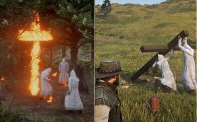 V Red Dead Redemption 2 dostaneš odměnu za zabití člena Kukluxklanu