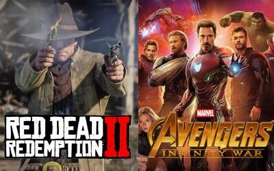 Red Dead Redemption 2 zarobilo za tri dni 725 miliónov dolárov, čím prekonalo otvárací víkend Avengers: Infinity War