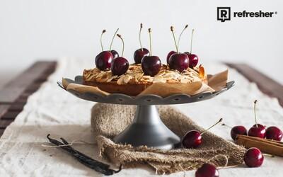 Refresher recept #21: Mandľovo čerešňový koláč zo špaldovej múky