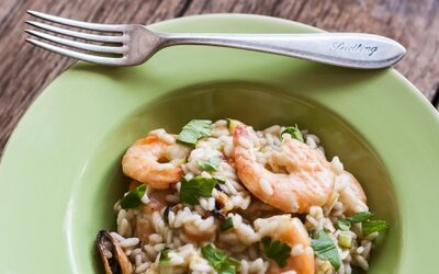 Refresher recept #6 Zeleninové rizoto s plodmi mora