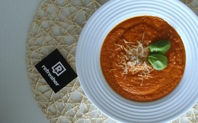 REFRESHER recept: Připrav si jednoduchý tomatový krém s čerstvou bazalkou