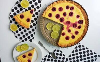 REFRESHER recept: Ricottový koláč s limetkou a malinami