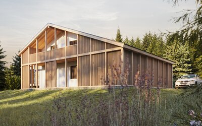 Rekonštrukcia takmer 50-ročnej chaty na úpätí Álp. Zachovala si horský charakter, ale nechýba jej punc moderného dizajnu