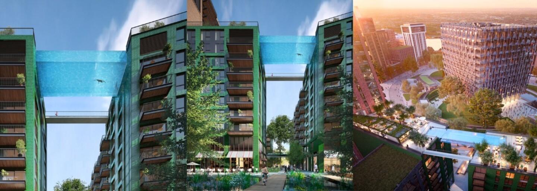 Relax v priehľadnom bazéne medzi budovami priamo v Londýne. Nezvyčajný bazén spojí apartmány a ponúkne parádny výhľad