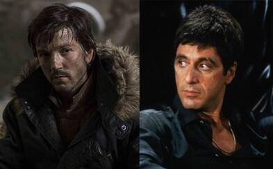 Remake snímky Scarface stratil režiséra, do úlohy titulného gangstera však obsadil hviezdu Rogue One Diega Lunu