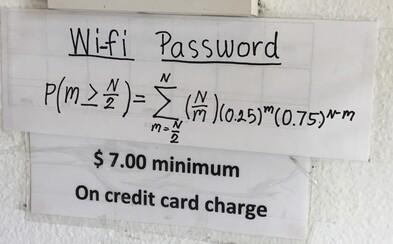 Reštaurácia, kde sa na Wi-Fi len tak ľahko nepripojíš. V ceste ti stojí náročný príklad ako z matematického pekla