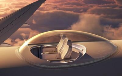 Revoluční bublina na letadle chce změnit zážitek z cestování. Bez ní prý létáme v plechovkách