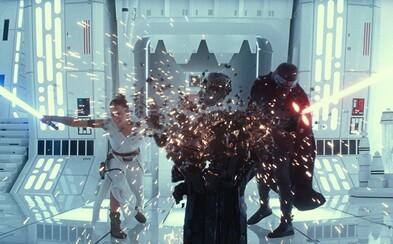 Rey používá Sílu na stormtroopery a Darth Sidious mluví o posledním souboji světla proti temnotě