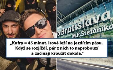 Režisér Kazmovej šou nechtiac uviazol na bratislavskom letisku s opitými Írmi a nahnevanými Čechmi. Rekapituláciou výletu rozosmieva náš Facebook