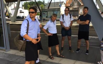 Francúzski vodiči MHD dostali zákaz nosiť kraťasy. Muži preto prišli do práce v sukniach