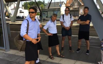 Řidiči MHD ve Francii dostali zákaz nosit kraťasy. Muži proto přišli do práce v sukních