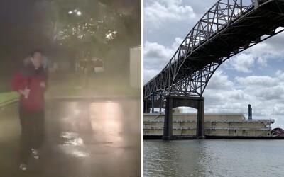 Rieka tiekla opačne, kasíno skončilo pod mostom a reportéra takmer trafil blesk. USA zasiahol hurikán Laura