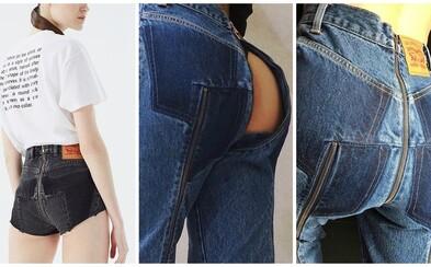 Rifle so zipsom na zadku. Známa značka ponúka jeansy doslova odhaľujúce celé tvoje pozadie