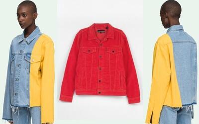 Rifľová bunda nemusí byť iba modrá. Neboj sa farieb a experimentovania s nimi