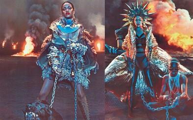 Rihanna je poslednou ženou na Zemi a nebezpečnou kráľovnou po apokalypse na záberoch pre W Magazine