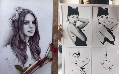 Rihanna, Kurt Cobain či Lana Del Rey. Ako vyzerajú známe osobnosti znázornené slovenskými a českými umelcami?