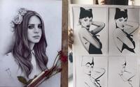 Rihanna, Kurt Cobain či Lana Del Rey. Jak vypadají známé osobnosti znázorněné českými a slovenskými umělci?