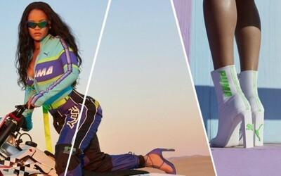 Rihanna nemá limity a v nejnovější kolekci FENTY Puma vytahuje boty na podpatcích a motokrosovou módu