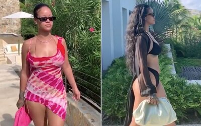 Rihanna pobláznila internet sérií videí, na kterých předvádí své přednosti