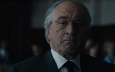 Robert de Niro jako největší finanční podvodník  v historii USA Bernie Madoff, který zpronevěřil 50 miliard dolarů