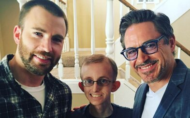 Robert Downey Jr. a Chris Evans navštívili ako Iron Man a Captain America chlapca bojujúceho s rakovinou