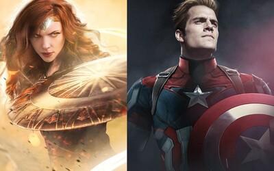 Robert Downey Jr. ako Batman či Henry Cavill ako Captain America. Superhrdinovia si vymenili hereckých predstaviteľov