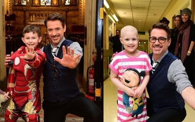 Robert Downey Jr. navštívil nemocné děti v Londýně, některé dokonce pozval na předpremiéru Civil War
