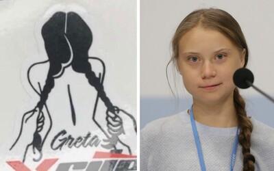Robotníci ropnej spoločnosti si uťahovali z Grety, na nálepke je nahá a pri sexe ju muž ťahá za vrkoče. Autor obrázku prehovoril