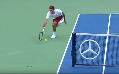 Roger Federer predviedol na US Open jeden zo svojich najlepších úderov kariéry