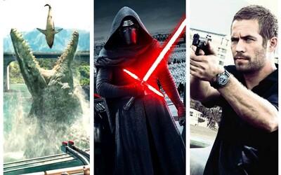 Rok 2015 otriasol kinami. Ktoré filmy zarobili najviac a pripojili sa ku klubu miliardárov?