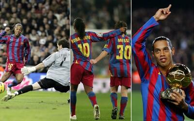 Ronaldinho - vysmiaty kúzelník s loptou, ktorému zatlieskali v stoji aj fanúšikovia Realu Madrid