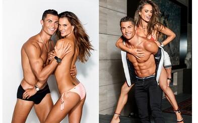 Ronaldo a Alessandra Ambrosio zo seba zhodili šaty pre magazín GQ. Obaja majú telá blížiace sa ku dokonalosti