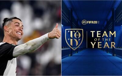 Ronaldo se nedostal do nejlepší jedenáctky roku hry FIFA 20. Nejlepší je Messi, nechybí ani hvězdy Liverpoolu