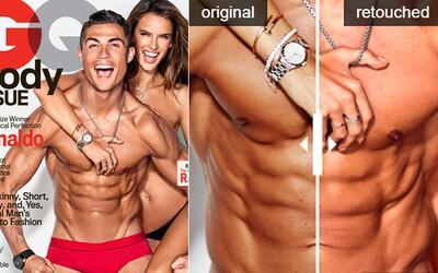 Ronaldove telo je príliš dokonalé na to, aby ho výrazne upravovali vo Photoshope. Ako vyzeralo fotenie krásnej modelky a futbalistu v zákulisí?