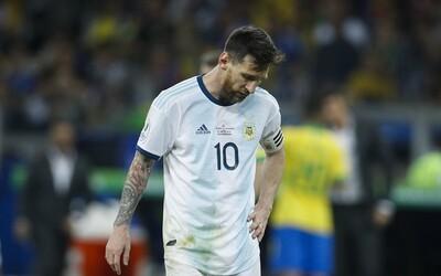 Rozhodčí pískali s*ačky, hněval se Lionel Messi. Argentina vypadla v semifinále Copa América s Brazílií