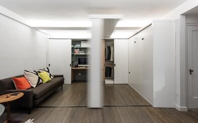 Rozlohou menší apartmán z New Yorku vás překvapí svou nevídanou variabilitou a prostorností