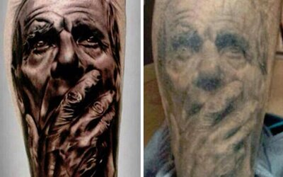 Rozmýšľaš nad tetovaním? Radšej sa zamysli znovu, keďže po rokoch nemusí byť príťažlivé a už vôbec nie čitateľné