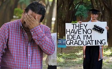 Rozplakal aj vlastného otca. 6 rokov potajomky študoval, aby napravil sklamanie a smútok, ktoré rodičom spôsobil svojimi činmi