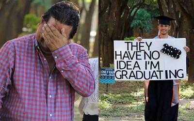 Rozplakal i vlastního otce. 6 let potají studoval, aby napravil zklamání a smutek, které rodičům způsobil