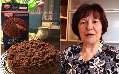 Roztomilá babička tě naučí péct krtkův dort. Nepotřebuje k tomu ani směs od Dr. Oetkera