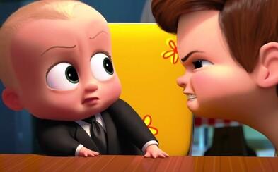 Roztomilé nemluvňa s hlasom dospeláka vás presvedčí o svojich manažérskych schopnostiach v ďalšej vtipnej ukážke pre očakávaný animák Baby šéf