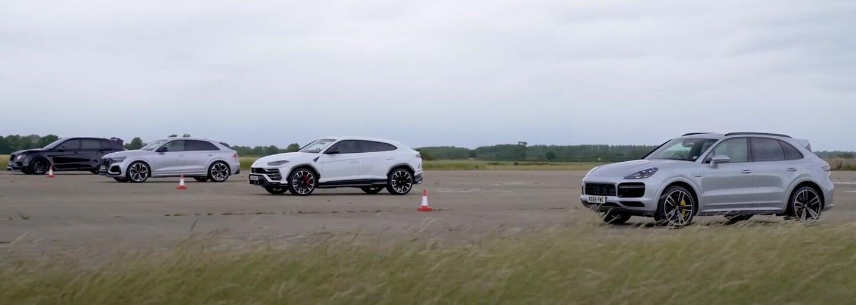 RS Q8, Cayenne Turbo S, Bentayga a Urus. Ktoré koncernové SUV je najrýchlejšie?